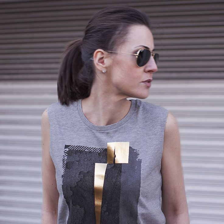 Grey & Gold Rock Chick Top | Urban Gilt Lookbook | Rivington Grey