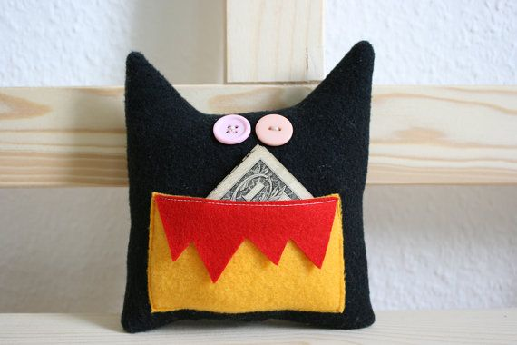 Tooth Fairy Pillow Toy Arthur by HappyMonstersLand on Etsy, $18.00