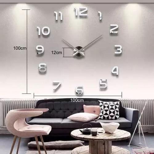 reloj pared moderno grande sin marco lecoolife / env gratis