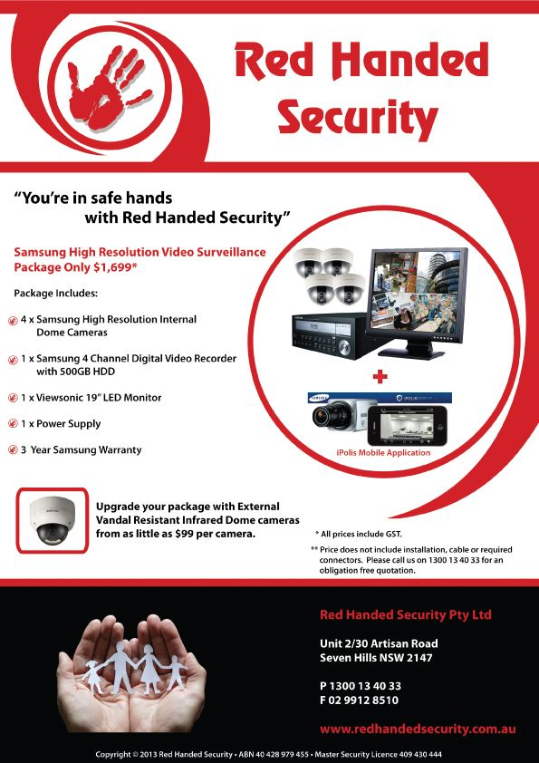 Ensure you're in safe hands with a Samsung CCTV System installed by Red Handed Security
