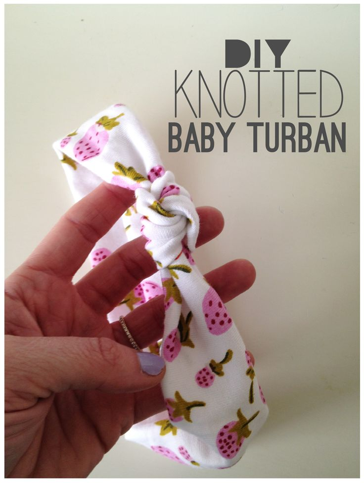 DIY knotted baby turban. could be adjusted to be an adult headband