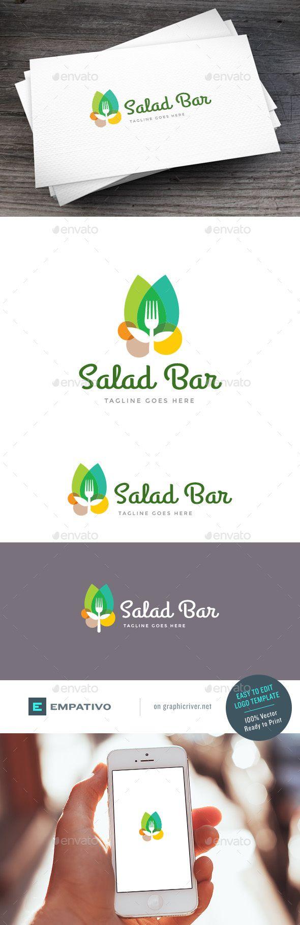 Salad Bar Logo   EPS Template • Download ↓ https://graphicriver.net/item/salad-bar-logo-template/15782770?ref=pxcr