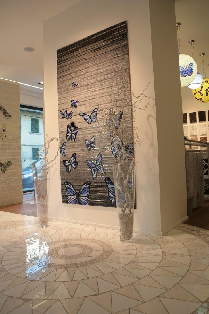 Pavimenti in mosaico e pannello mosaico artistico.