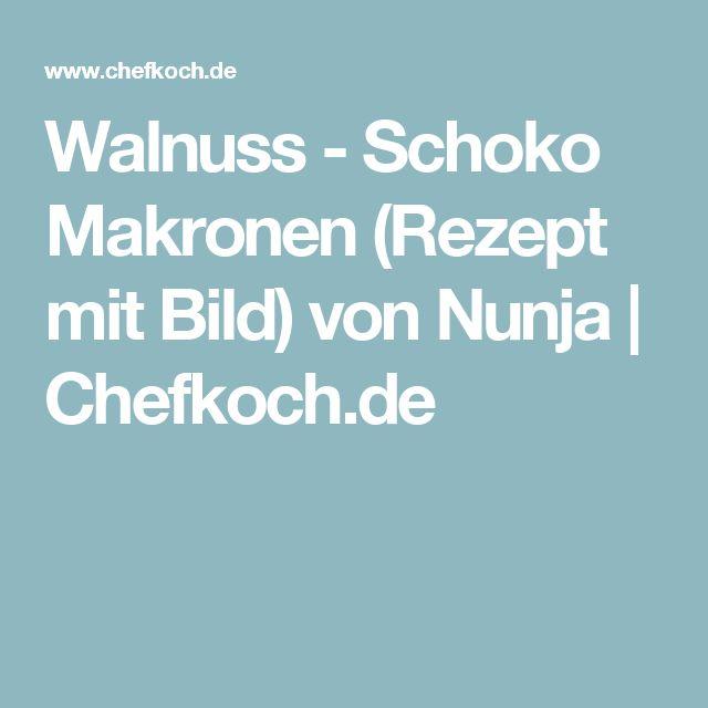 Walnuss - Schoko Makronen (Rezept mit Bild) von Nunja   Chefkoch.de