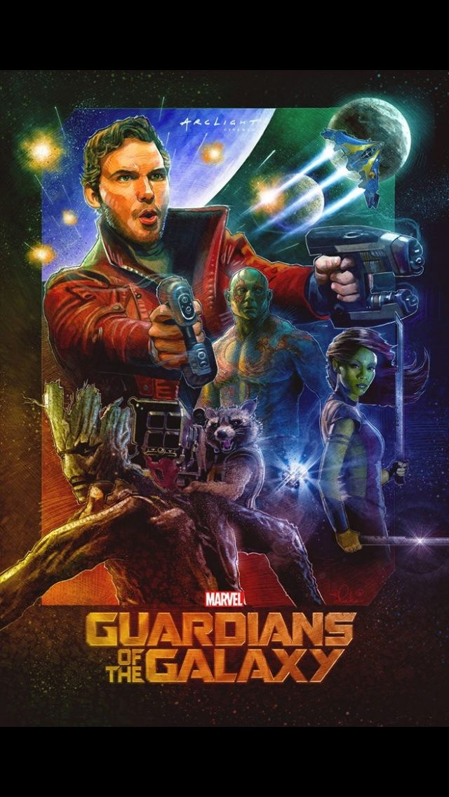 Check out my friend's Guardians of the Galaxy poster! His name is Blake Armstrong (and channeling Drew Struzan!)