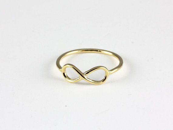 Minimalistic Infinity Forever Ring 18k Gold Silver by MinimalMeow