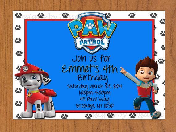 Paw Patrol Birthday Invitations Printable By Designsbylyssalou
