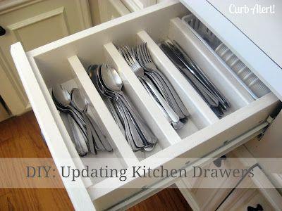 Updating Kitchen Drawers - 19 Great DIY Kitchen Organization Ideas