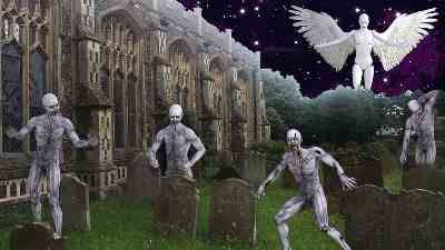 Short essay on If I were a Zombie for children and students. Walk through a graveyard in the dead of night alone