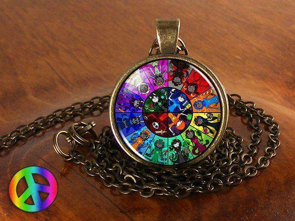 Homestuck God Wheel Game Comic Necklace Pendant Charm Jewelry Cosplay Anime Gift