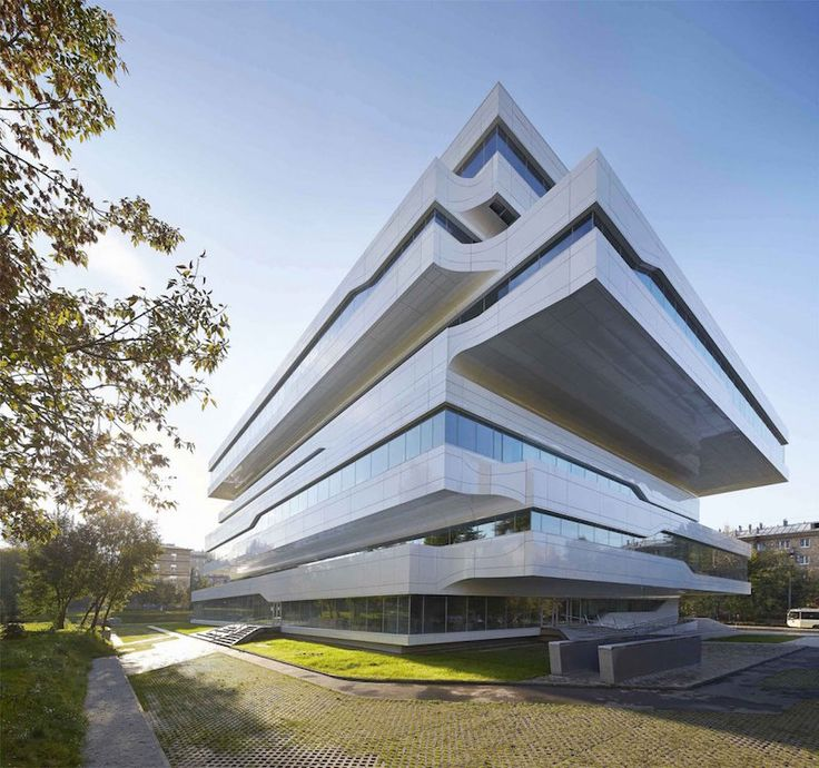 zaha hadid architects dominion office building employs a fantastical design for its atrium building