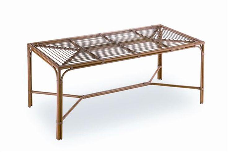 Mesa de comedor rectangular de aluminio lacado e ideal for Muebles exterior outlet