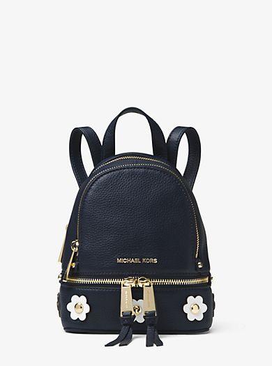 ab43f7e35 Rhea Mini Floral Appliqué Leather Backpack | Fashion in 2019 ...