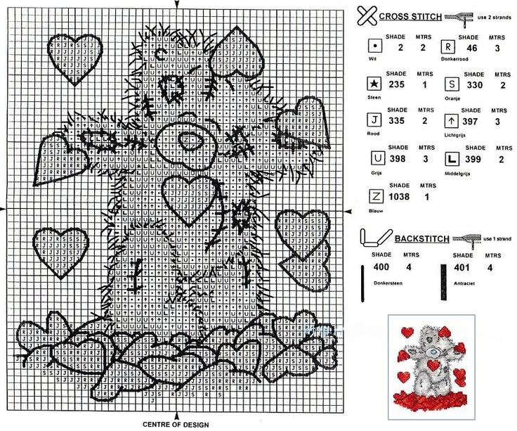 tatty teddy love pattern