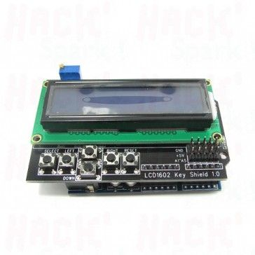 16x2 LCD Keypad shield for Arduino