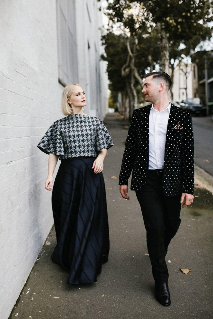 Best groom styles of 2016 - black velvet polka dot blazer