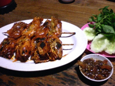 Mang Engking. Best place for honey grilled shrimp and grilled carp. Jl. Godean, Yogyakarta, Indonesia