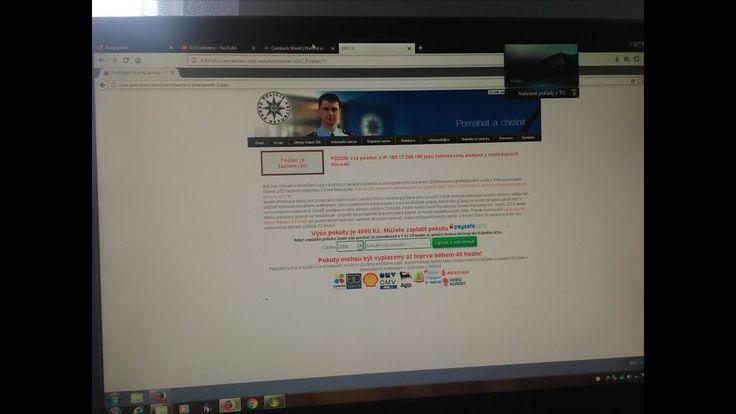 Policie zablokovala počitač planý poplach jednase o script v prohližeči