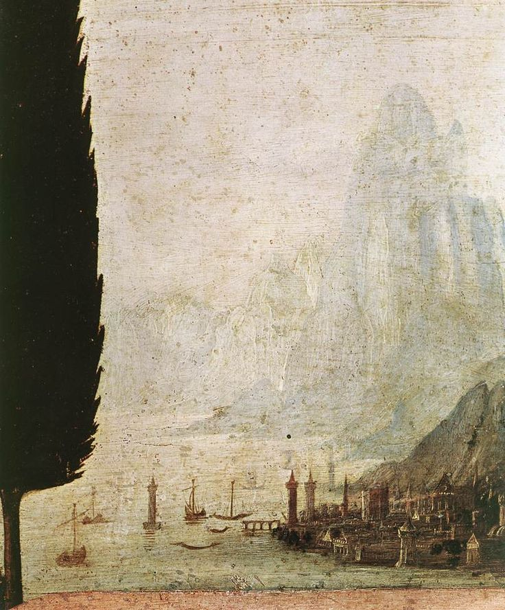 Annunciation [detail] by Leonardo da Vinci, Tempera on wood   #TuscanyAgriturismoGiratola