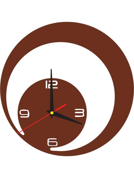 Desing wall clock JOHN color: light brown Reference:  X0017-RAL8011-LIGHT BROWN Condition:  New product  Availability:  In Stock  Time to change! Decorating watches will revive every interior, highlight the charm and style of your space. Discover your living with new clocks. Plexiglass wall clocks are a wonderful decoration of your interior.