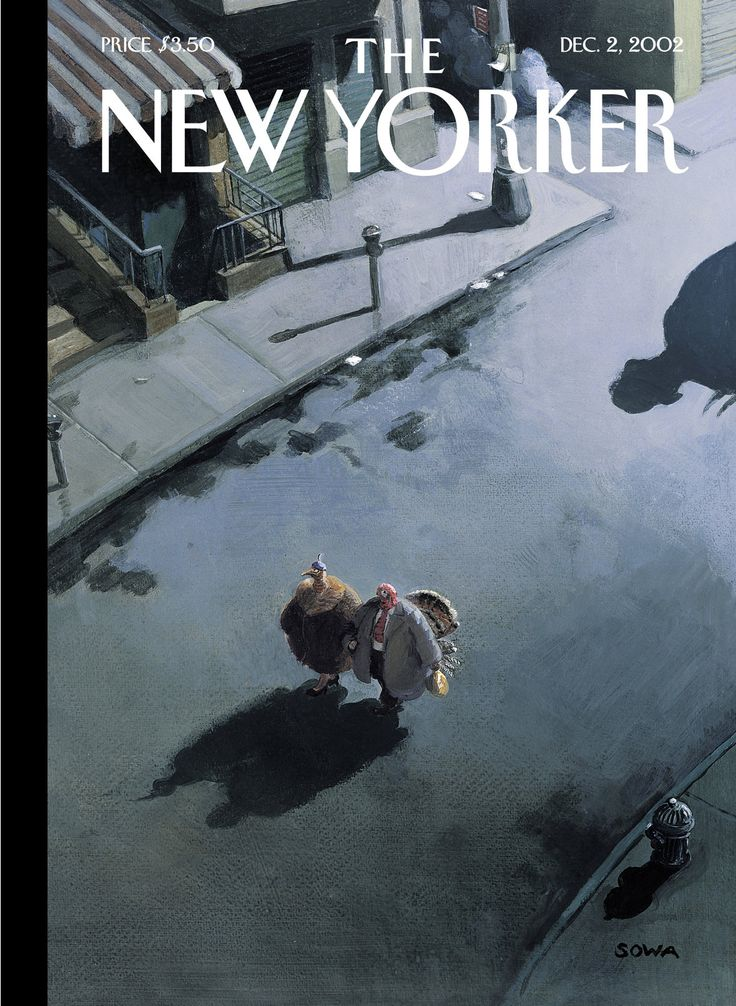 "The New Yorker - Monday, December 2, 2002 - Issue # 4008 - Vol. 78 - N° 37 - Cover ""Last-Minute Errand"" by Michael Sowa"