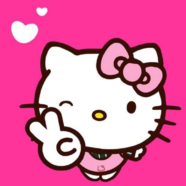 Hello Kitty Throwing Up The Peace Sign Helllllloooooo Kitty