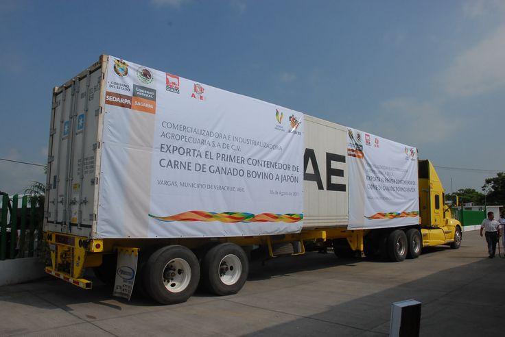 El evento se llevó a cabo el día 5 de agosto del 2011 en el municipio de Vargas. Esta salida del primer contenedor de carne empacada a Japón abrirá muchas oportunidades de mercado en el mundo.