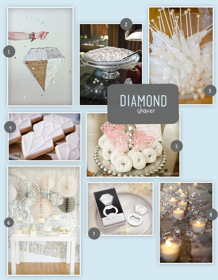 A diamond is how your entry into engaged bliss begins, so why not celebrate that with a diamond themed bridal shower?