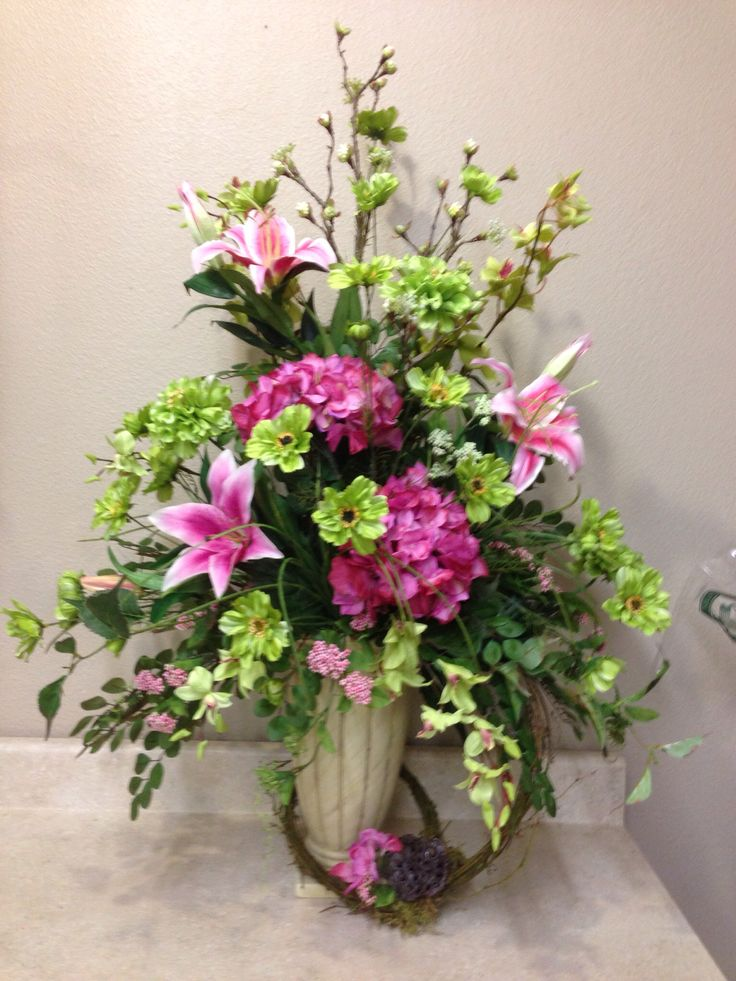 Spring Altar Arrangement Floral Decor Pinterest