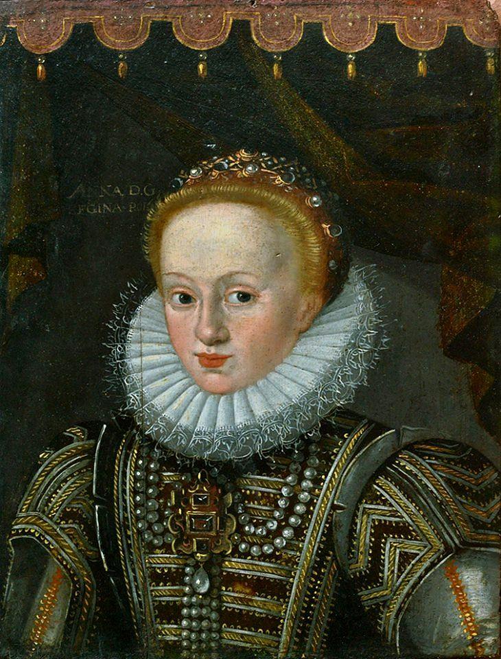Portrait of Anna of Austria by Anonymous from Lviv (Jan Szwankowski?), ca. 1592 (PD-art/old), Muzeum Uniwersytetu Jagiellońskiego (MUJ)