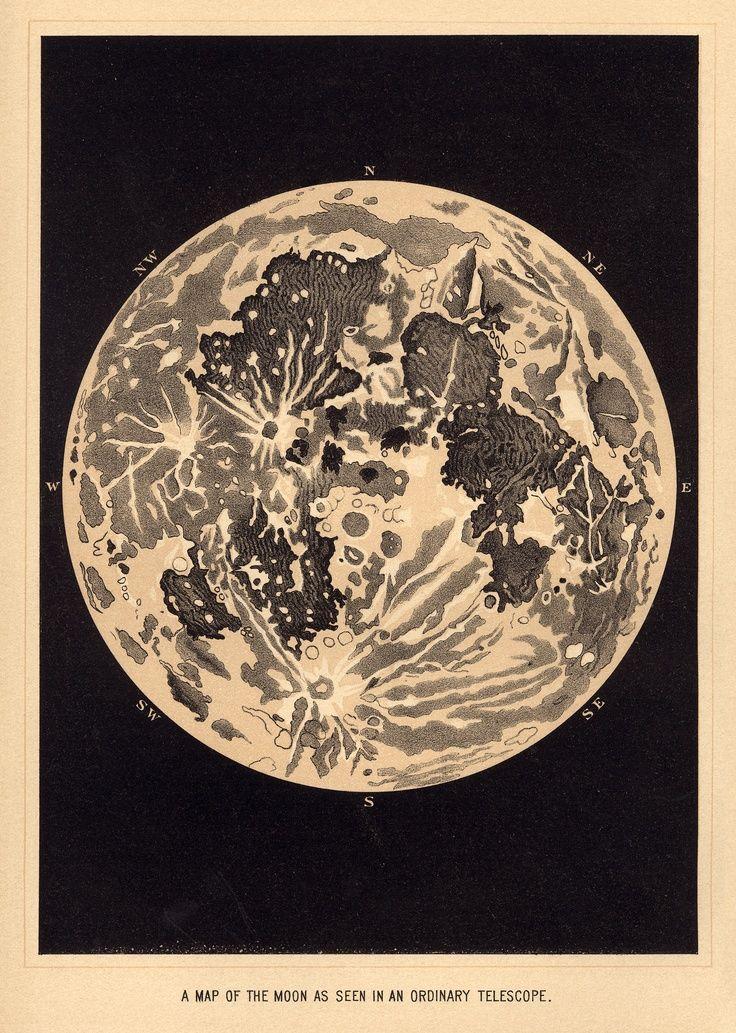 Public-Domain Vintage Illustrations Moon | Vintage Sun And ...