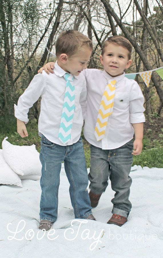 Boys Cheveron Tie You choose Color boutique hand made NB-12years...Love Tay Boutique via Etsy