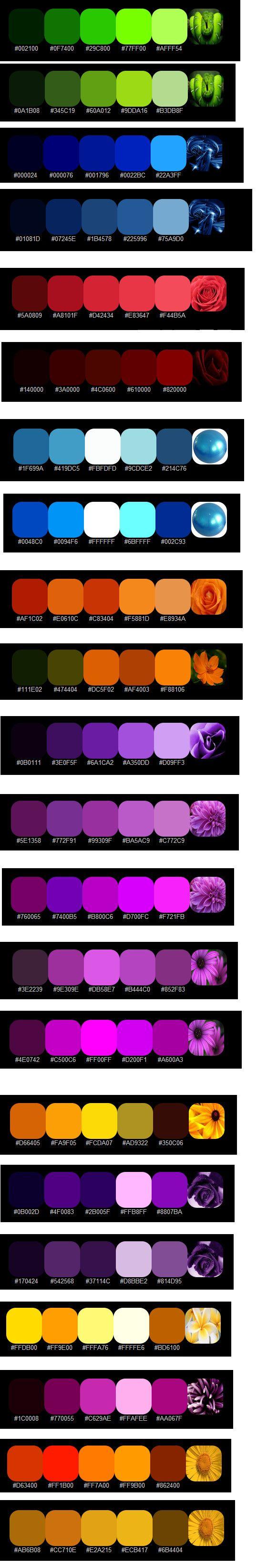 Gradient Color Swatches by ~Jazzglenn421 on deviantART