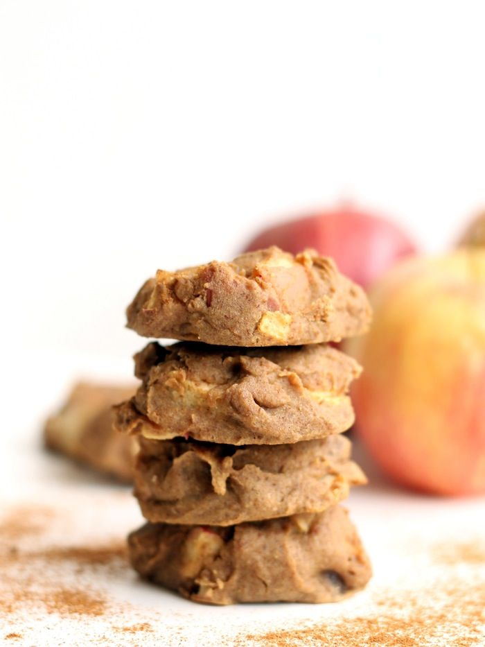 You'd never guess that these tasty apple cinnamon cookies were made with high-fiber chickpeas!