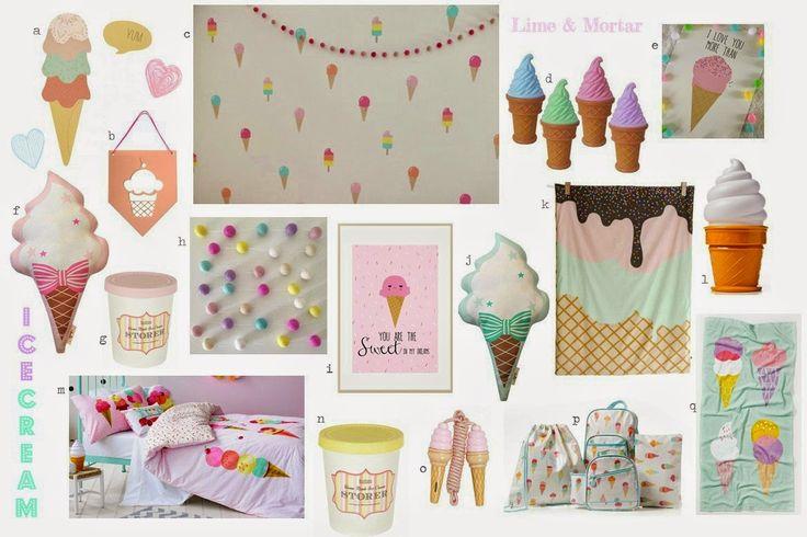 Lime & Mortar: Delicious Ice Cream Bedroom