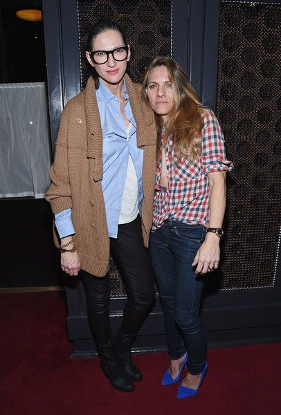 Jenna Lyons Photos Photos - Fashion designer Jenna Lyons (L) and girlfriend Courtney Crangi pose for a picture as Spring celebrates #SpringIntoLove at The Standard on February 4, 2015 in New York City. - Spring Celebrates #SpringIntoLove at the Standard