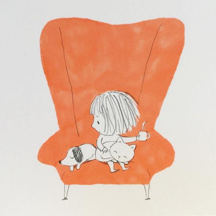 いいね!1,085件、コメント8件 ― Jane Masseyさん(@janemasseyillustration)のInstagramアカウント: 「Only 5 sleeps until Christmas! Is it too late to add a new orange Sharpie to my wish list?」