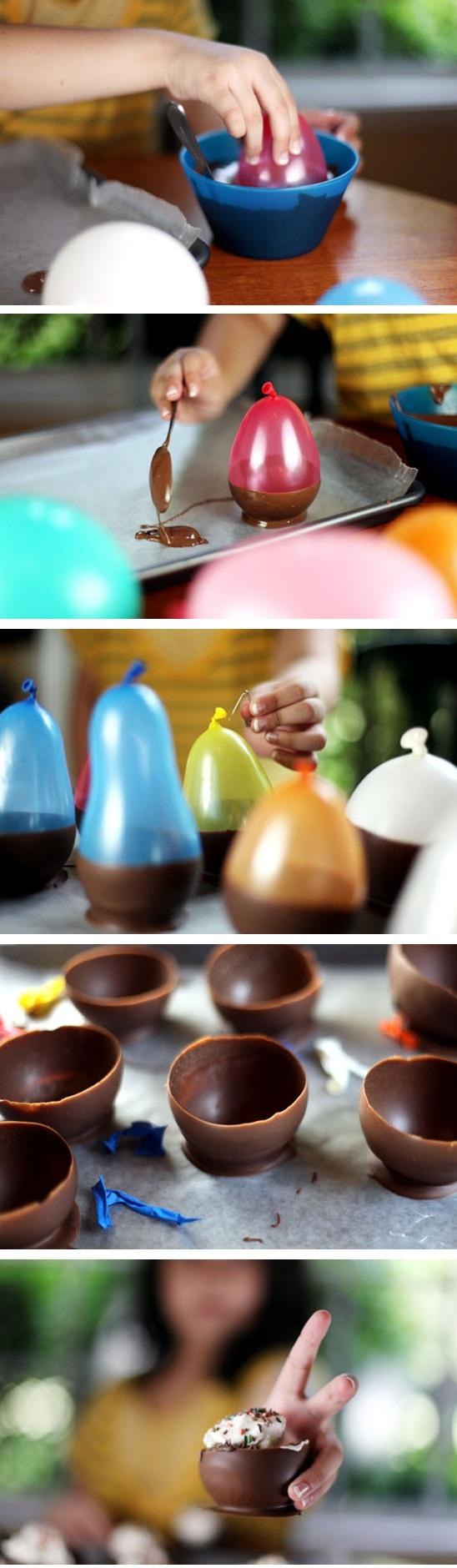 Copas de chocolate