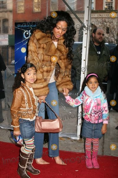 "Photos and Pictures - NYC 12/03/06 Kimora Lee and daughters Ming Lee Simmons and Aoki Lee Simmons at a screening of the new movie ""CHARLOTTE'S WEB"" at Clearview Chelsea West Theater Digital Photo by Adam Nemser-PHOTOlink.net"