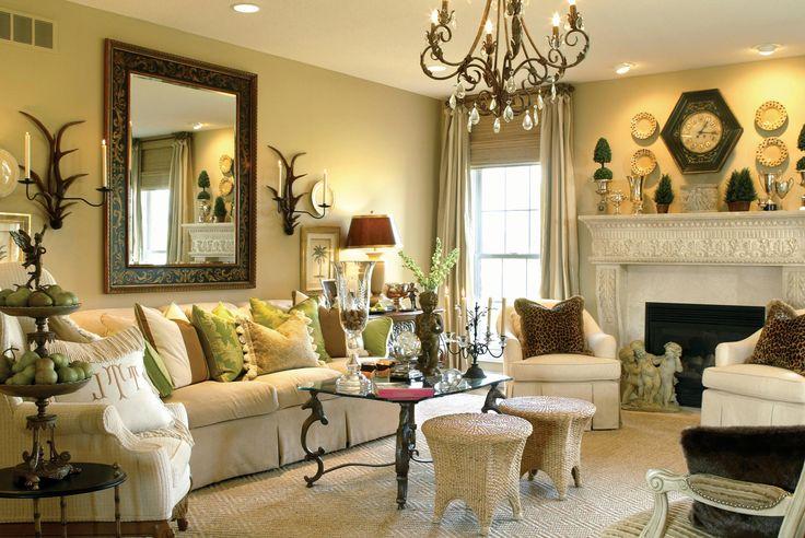 448 best living spaces images on pinterest living room for Elegant neutral living rooms