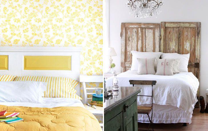 Cabecera para cama con puertas viejas