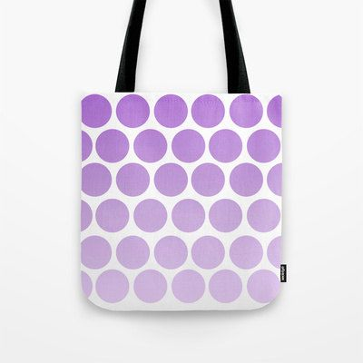 Polka Dot Purple Tote Bag  Book Bag  Grocery by ShelleysCrochetOle
