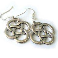 keltische knoop oorbellen