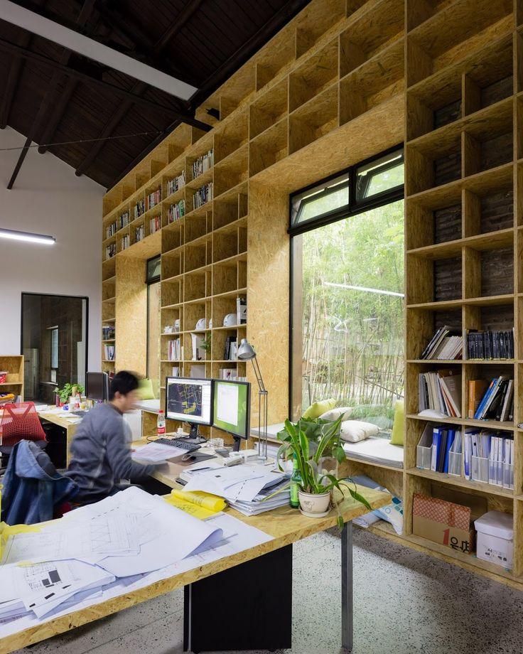 Shanghai Noon. Inside of architecture studios based in Shanghai
