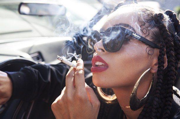 Girl, Hair, Makeup, Smoke, Thug Life, Tumblr, Cyber Ghetto -8176