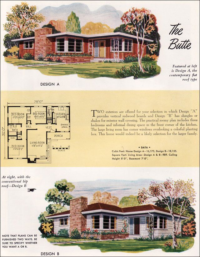 17 best images about national homes on pinterest mid for Mid century modern ranch house plans