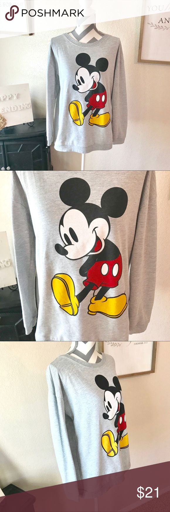 Disney Mickey Mouse pullover sweatshirt Preowned, but in great condition!! No stains or peeling.  Super cute and ready for a Disney lover! Disney Other