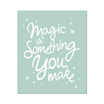 Poster Magic-Mintgroen - Wanddecoratie