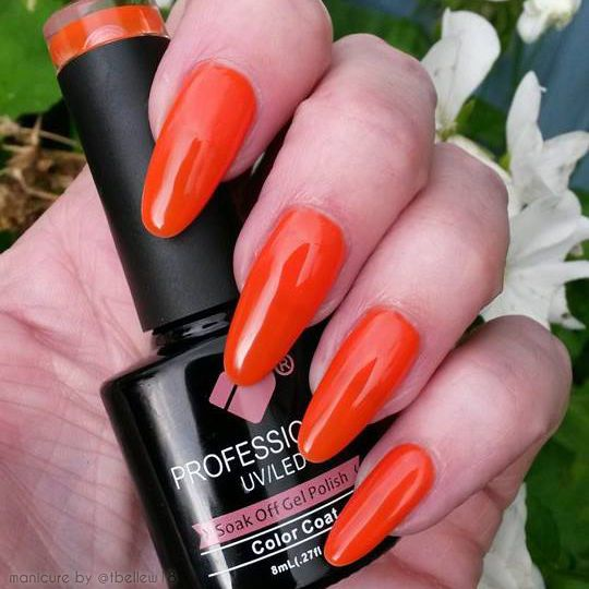 *005* VB™ Line Hot Electric Orange Colour UV/LED Soak Off Nail Gel Polish