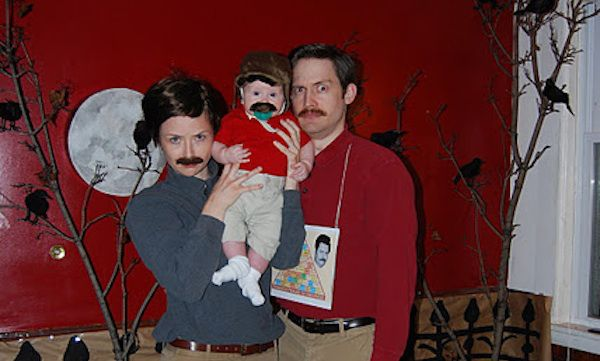 Ron Swanson   Amazing Kids' Halloween Costumes That They're Too Young To Understand